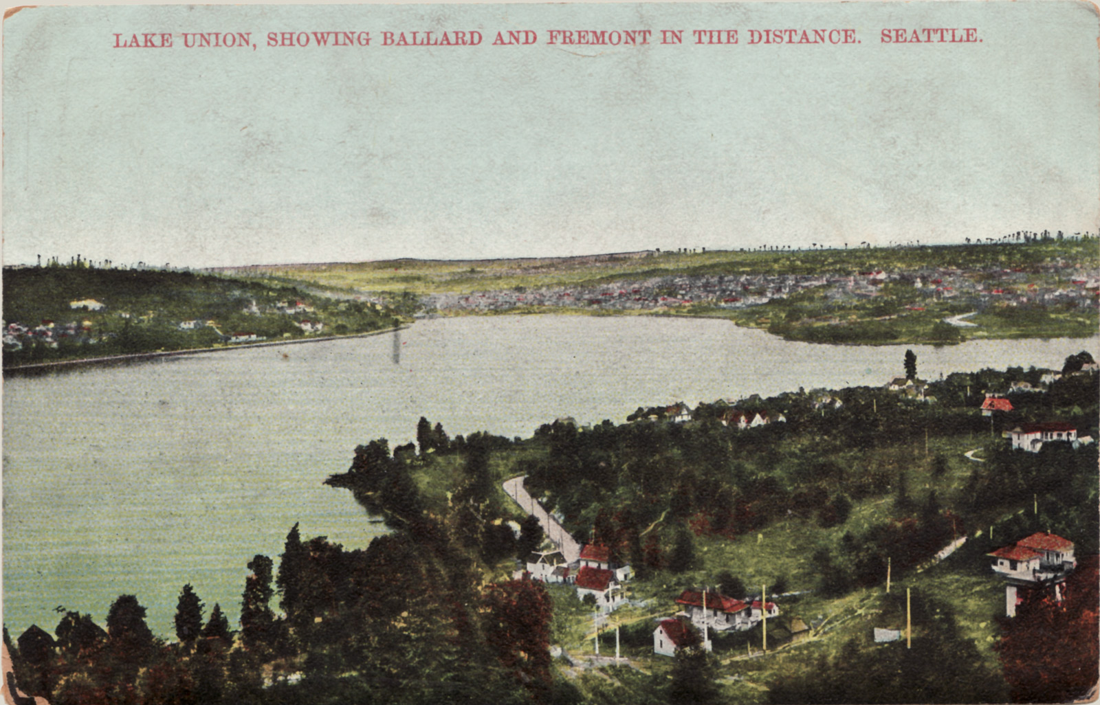 Lake Union from the east, around 1900